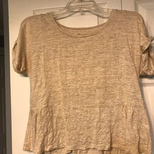 cropped Madewell top, cream